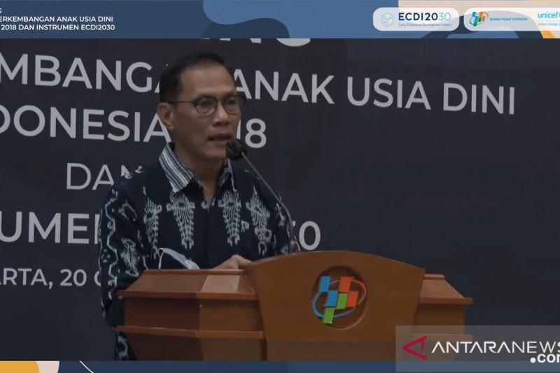 BPS: Pemerintah harus dorong capaian ECDI daerah yang rendah