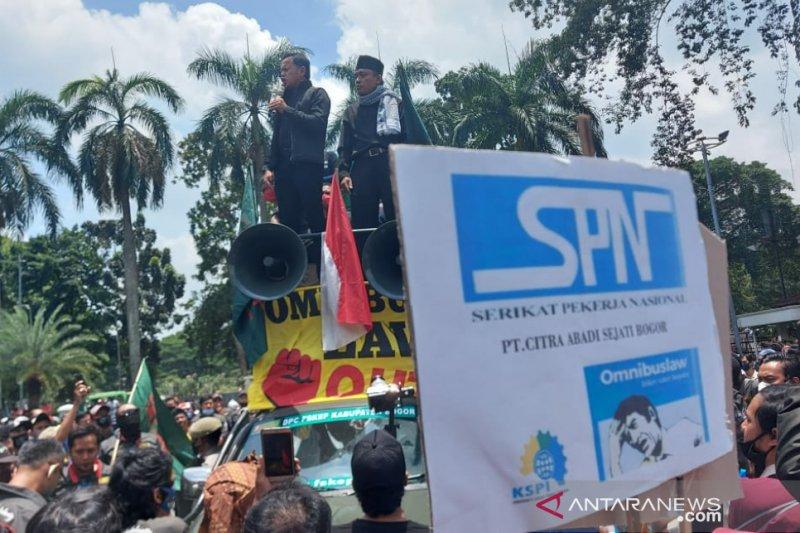 Wali Kota Bogor nyatakan akan sampaikan aspirasi buruh kepada Presiden