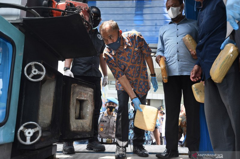 Pemusnahan ganja sindikat lintas provinsi