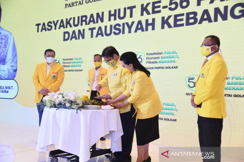 Sesepuh Golkar hadiri HUT, Airlangga: Tunjukkan soliditas partai