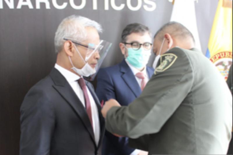 Dubes RI terima penghargaan anti narkoba dari Kepolisian Kolombia