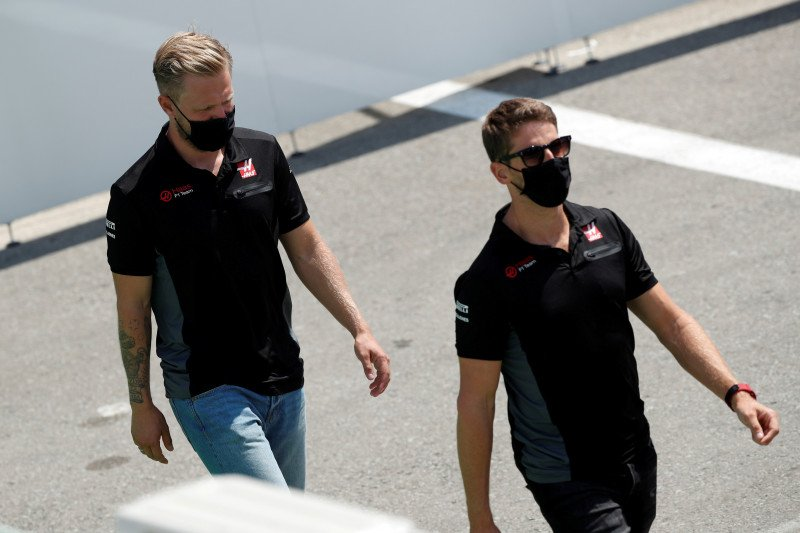 Grosjean, Magnussen tinggalkan Haas di akhir musim