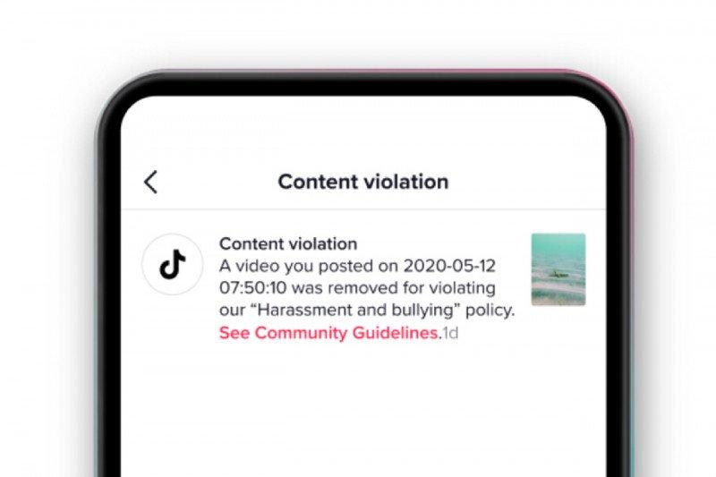 TikTok akan beri tahu alasan video dihapus