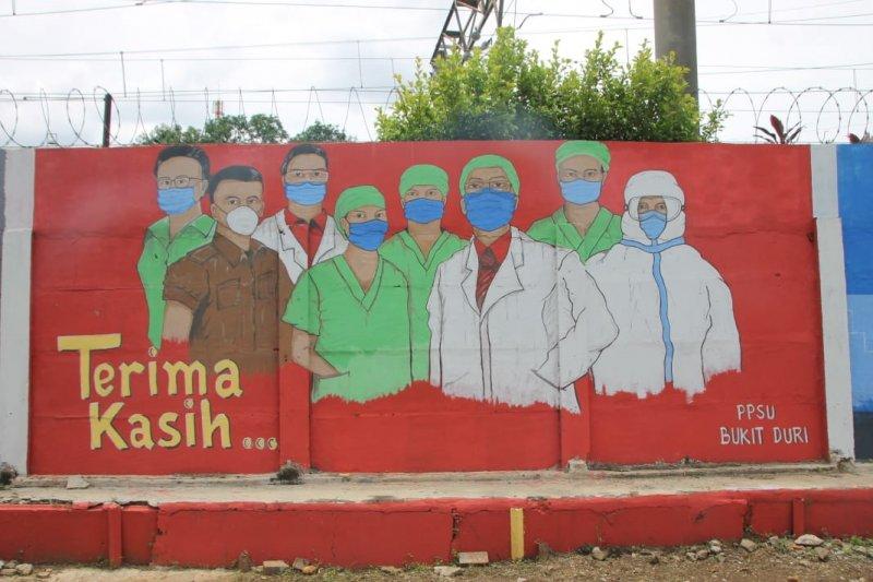 Kelurahan di Jaksel kampanyekan pencegahan COVID-19 lewat mural