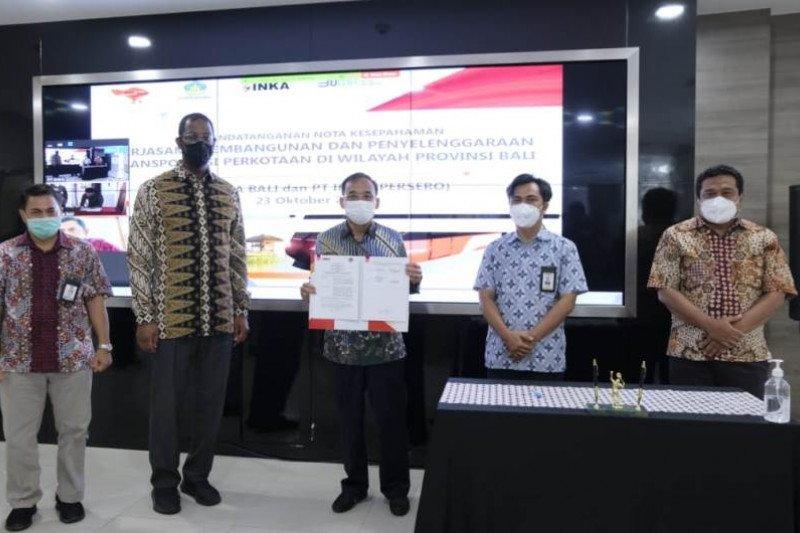 INKA dan Perusda Bali sepakat kembangkan transportasi listrik di Bali
