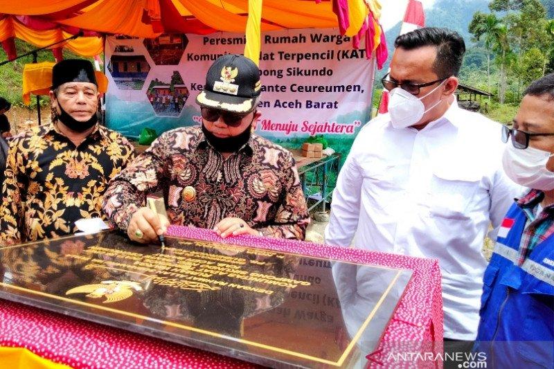 Komunitas Adat Terpencil Aceh Barat tempati rumah bantuan pemerintah