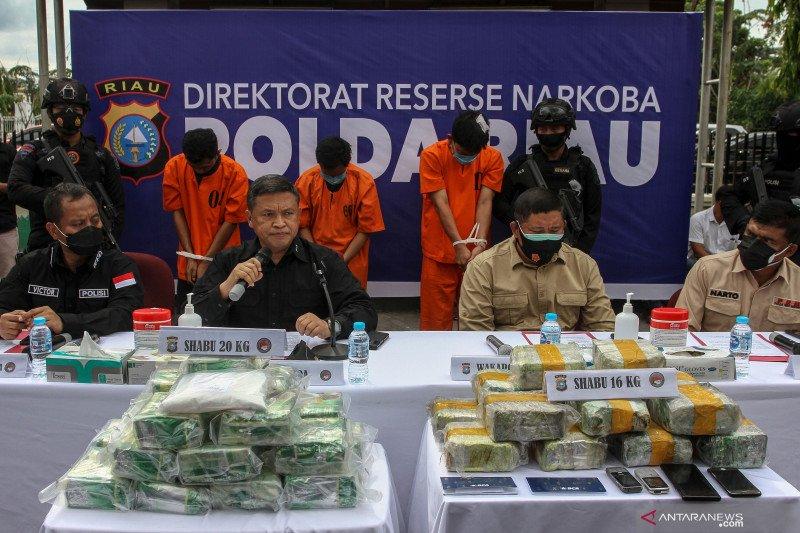 Polda Riau dalam dua pekan menyita 36 kg sabu-sabu