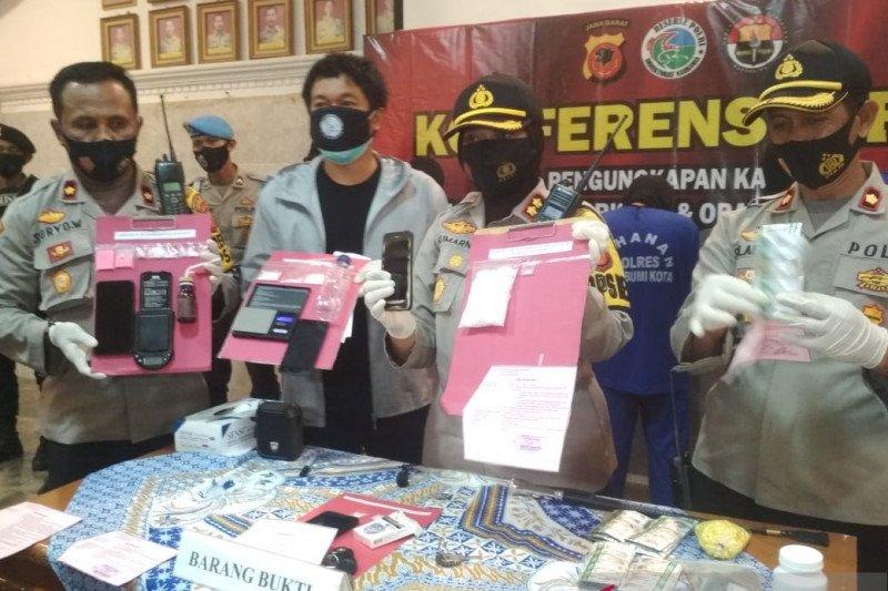 Polres Sukabumi Kota sita narkoba senilai ratusan juta rupiah