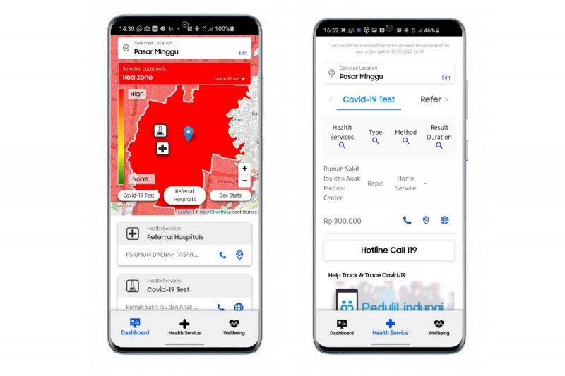 Aplikasi pemantau COVID-19 Samsung tersedia untuk pengguna Indonesia