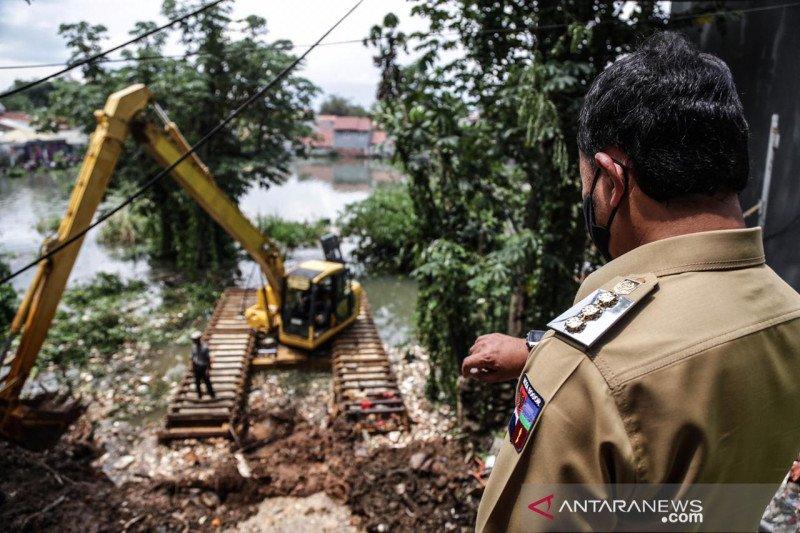 Banjir di Griya Cimanggu Indah Kota Bogor dalam proses menyurutan