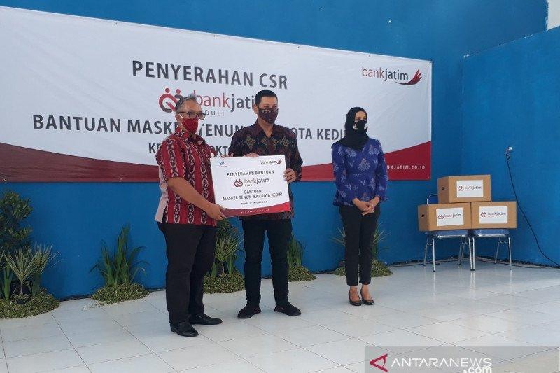 Kota Kediri dapat bantuan 10.000 masker dari Bank Jatim