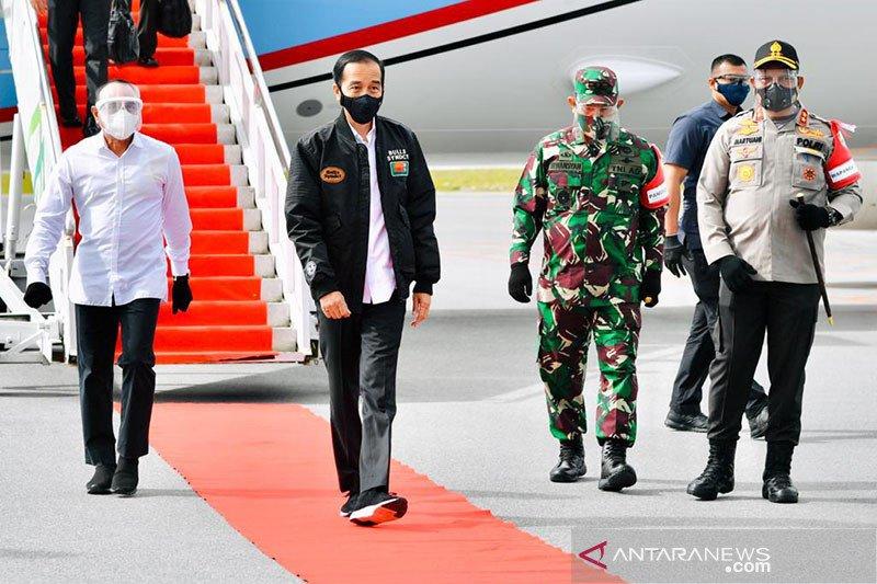 Presiden Jokowi tinjau lumbung pangan di Sumatera Utara