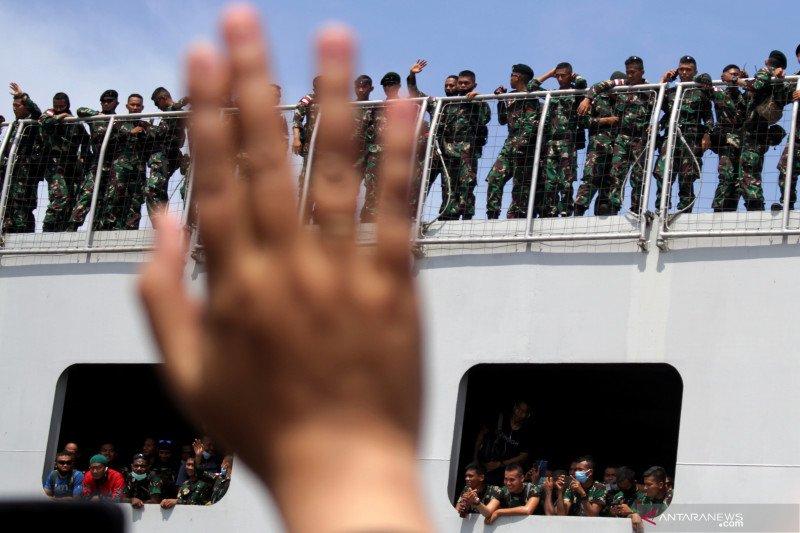 Pemberangkatan Satgas Pamtas Penyangga Papua