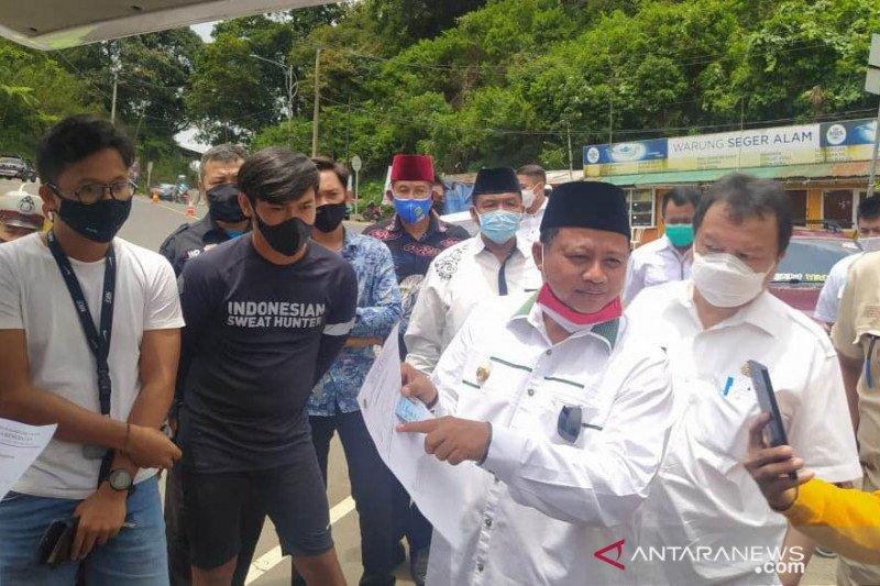 Wagub Jabar pimpin tes cepat pengendara di perbatasan Cianjur-Bogor