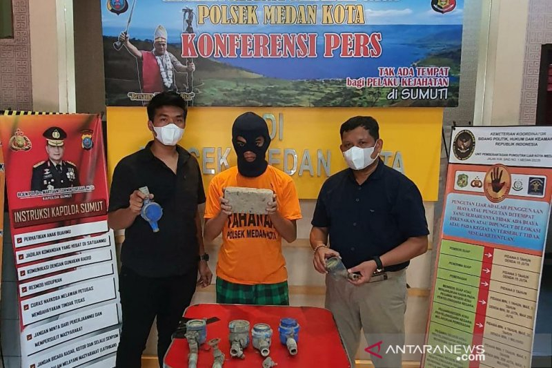 Polisi di Medan tangkap pencuri bermodus jadi pemulung
