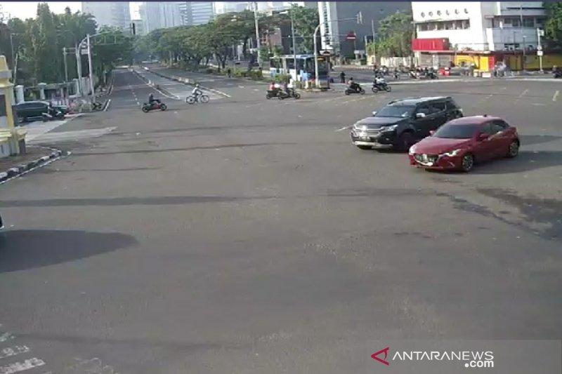 Libur Maulid Nabi, arus lalu lintas di Jakarta tampak lengang