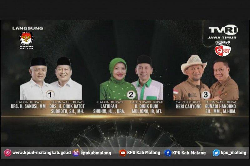 Tiga paslon Pilkada Malang beradu program dalam debat publik