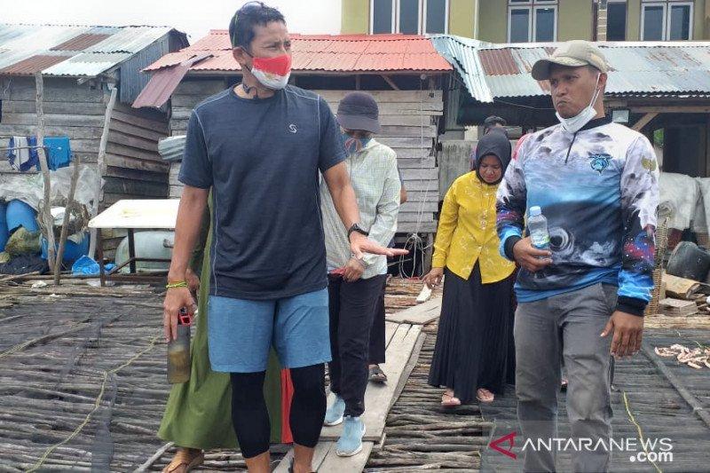 Sandiaga Uno berdialog dengan nelayan di sentra ikan asin terbesar RI