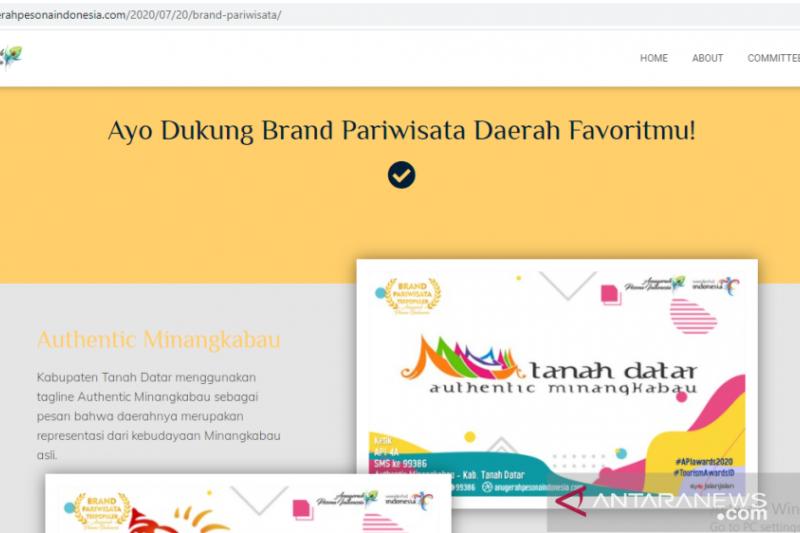 Authentic Minangkabau incar Brand Pariwisata Terpopuler API 2020