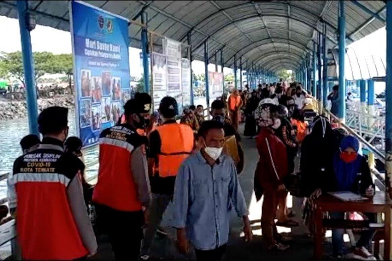 Gelar operasi yustisi,Satgas COVID-19 Ternate jaring puluhan pelanggar prokes
