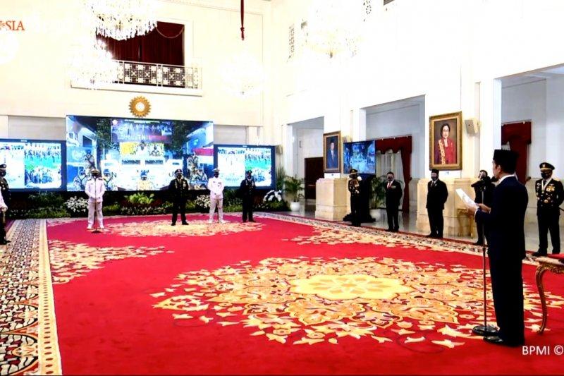 Pesan khusus Presiden Jokowi pada prajurit di HUT ke-75 TNI
