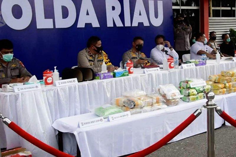 Polisi ungkap  jaringan narkoba asal Malaysia di wilayah Riau