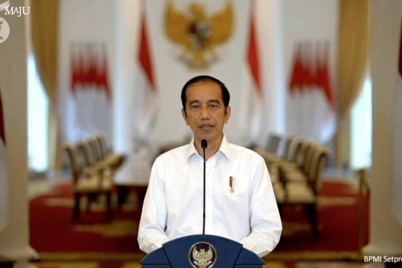 Presiden Jokowi beri penjelasan terkait UU Cipta Kerja