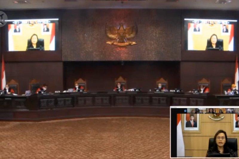 Sri Mulyani: pembentukan UU Penanganan COVID-19 tak langgar konstitusi