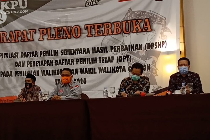 KPU Kota Cilegon tetapkan DPT Pilkada 297.045 pemilih