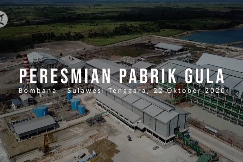 Presiden resmikan pabrik gula di Bombana yang mampu serap 15 ribu naker