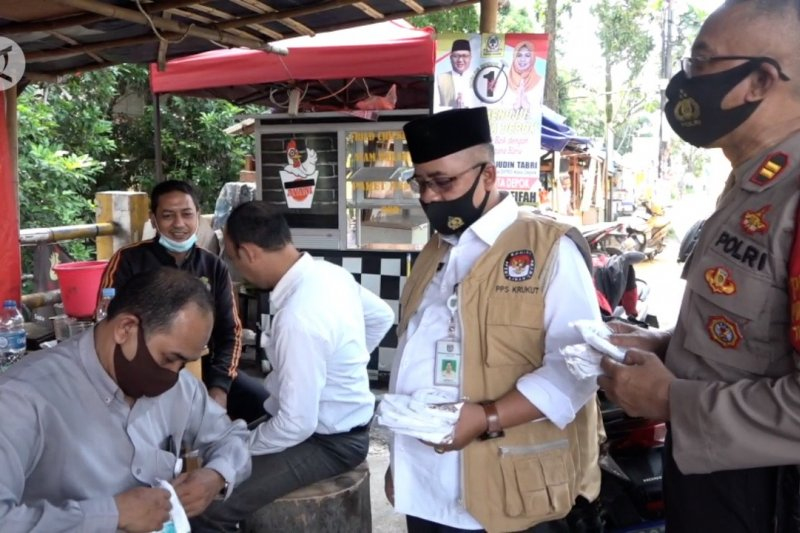 Petugas gabungan gelar operasi yustisi di enam wilayahdi Depok