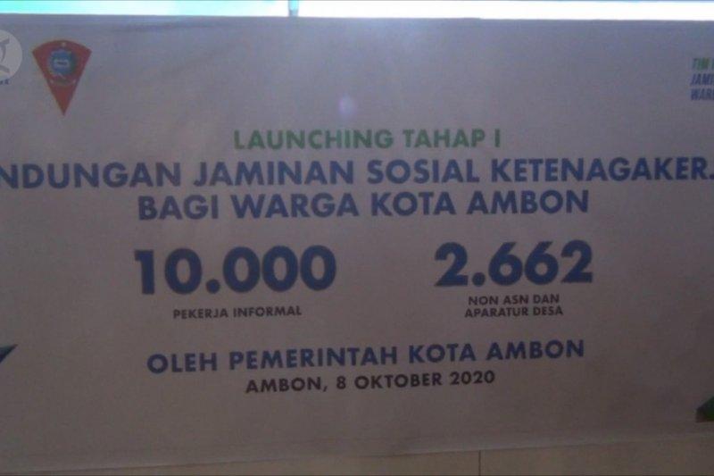 Ribuan pekerja non formal di Kota Ambon dapat jaminan sosial ketenagakerjaan