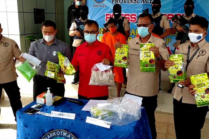 BNN Aceh tangkap pengedar 8 kg sabu dan 10 ribu pil ekstasi