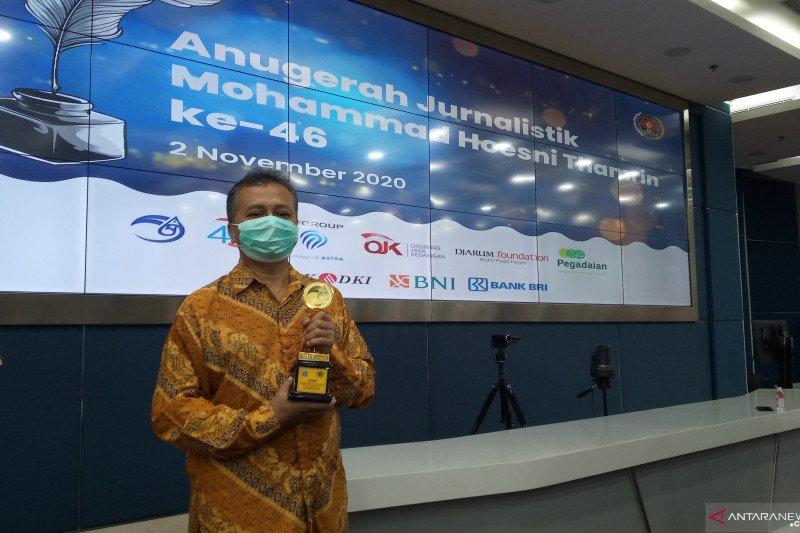 Pewarta Antara raih penghargaan karya jurnalistik MH Thamrin 2020