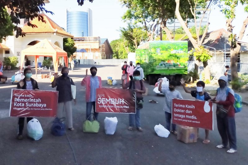 Separuh lebih kelurahan di Surabaya nol kasus COVID-19
