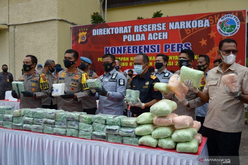 Polisi Aceh gagalkan penyelundupan 81 kilogram sabu