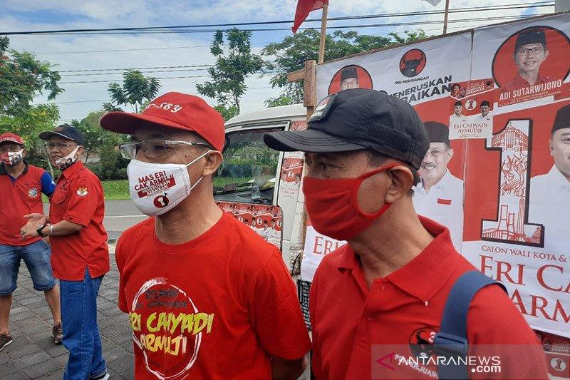 PDIP Surabaya turunkan jurkam keliling kampung kampanyekan Eri-Armuji