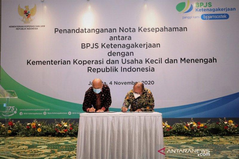 Kemenkop-BPJamsostek sepakat lindungi pekerja koperasi dan UMKM