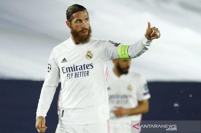 Sergio Ramos absen perkuat Real Madrid saat hadapi Inter Milan