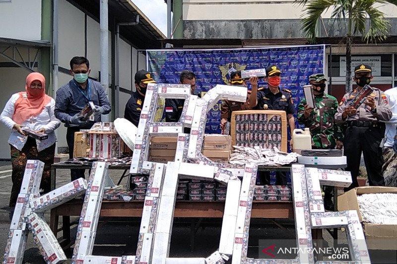 Bea Cukai Kudus mencatat 65,67 persen kasus rokok ilegal dari Jepara