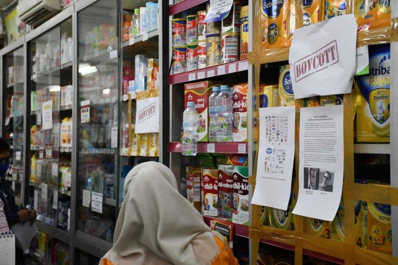 Sejumlah minimarket di Bandarlampung boikot produk asal Prancis