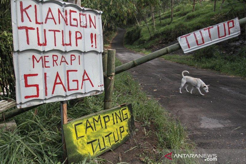 Wisata lereng Merapi tutup