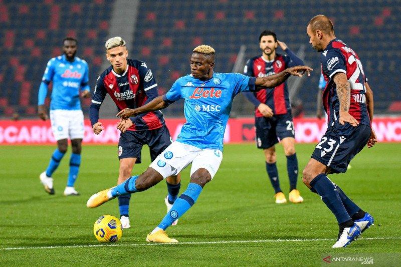 Gol semata wayang Osimhen bawa Napoli menang 1-0 atas Bologna