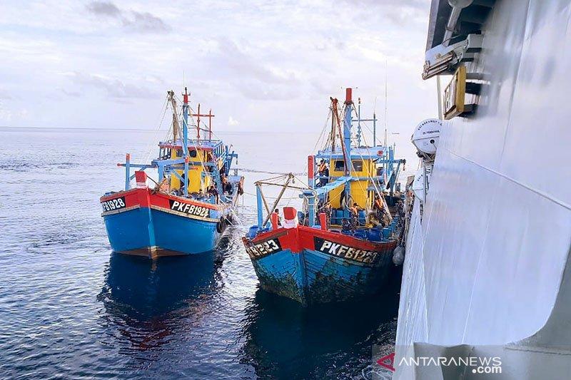 Kapal pencuri ikan berbendera Malaysia kembali ditangkap di Riau