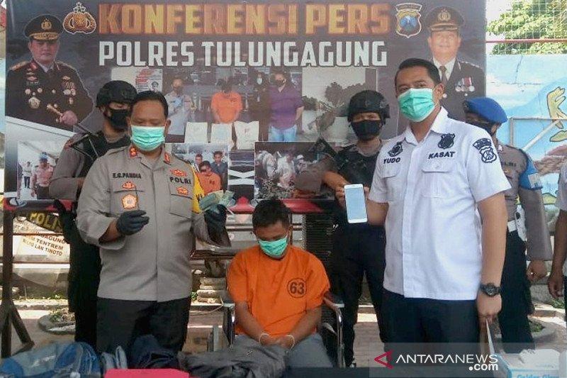 Polisi tangkap komplotan pencuri modus gembos ban di Tulungagung