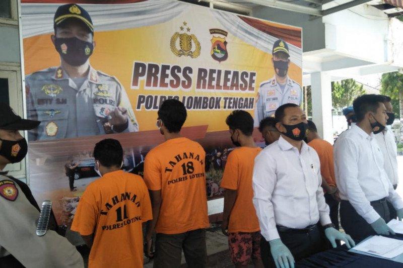 Dua pekan, Polres Lombok Tengah jebloskan 9 penjahat ke sel