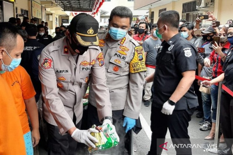 Kapolrestabes: Peredaran narkoba di Medan meningkat selama pandemi