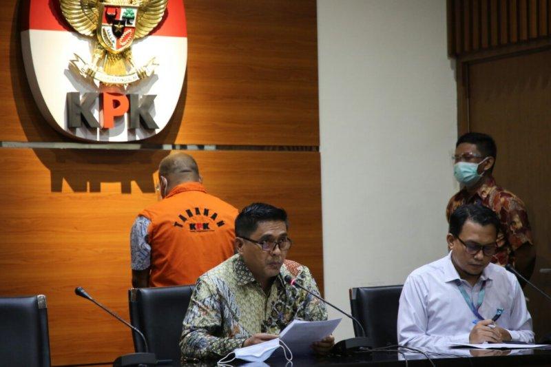KPK jelaskan konstruksi perkara Agusman Sinaga sebagai tersangka