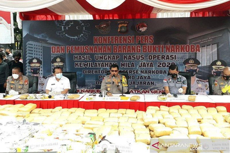 Polda Metro Jaya musnahkan barang bukti kasus narkoba