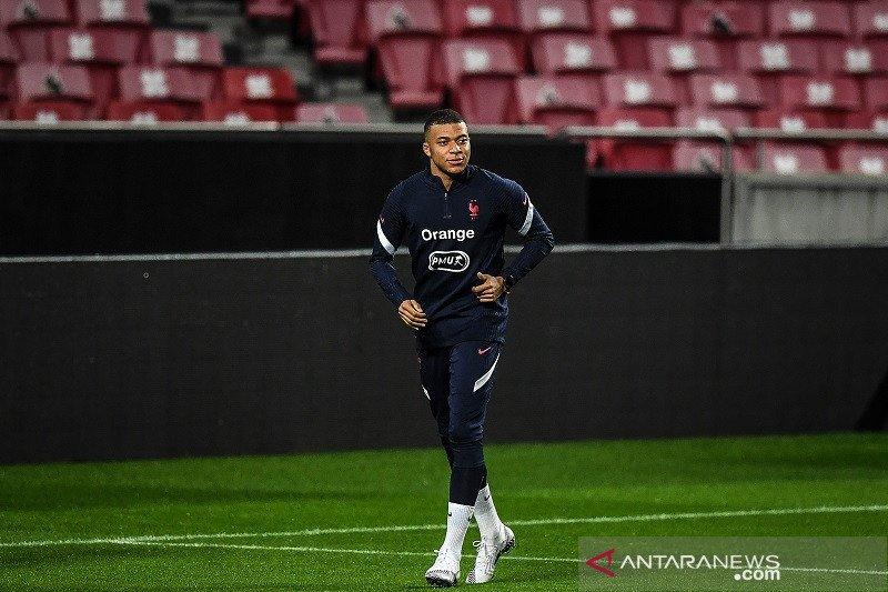 Prancis mungkin tanpa Mbappe hadapi Portugal